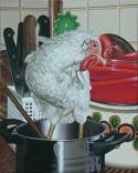 Ein Topf mit Huhn